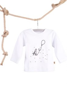 Baby T-shirt Hi Ballon Wit