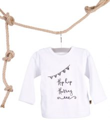 Baby T-shirt Hip Hip Hurray Wit