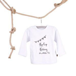 Baby T-shirt Hip Hip Hurray Wit