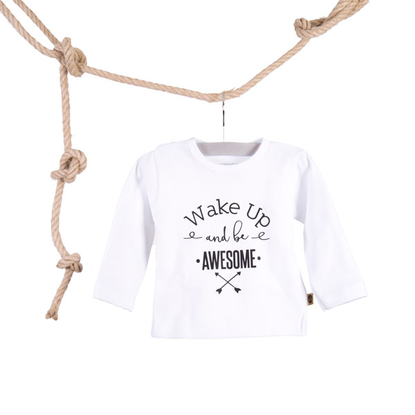 Baby T-shirt Wake Up and be Awesome Wit