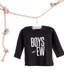 Baby T-shirt Boys are Ew Zwart
