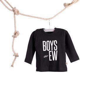 Baby T-shirt Boys are Ew Zwart