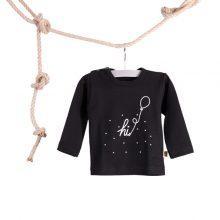 Baby T-shirt Hi Ballon Zwart