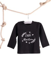 Baby T-shirt Little Adventures Zwart