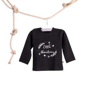 Baby T-shirt Little Adventures Zwart