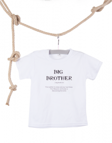 T-shirt Big Brother wit
