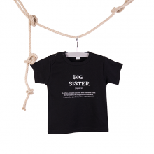T-shirt Big Sister zwart