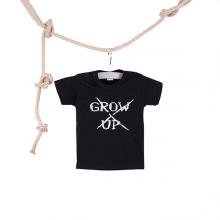 Baby T-shirt Grow Up zwart