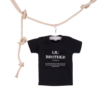 Baby T-shirt Lil Brother zwart